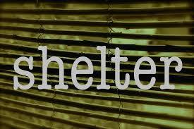 Shelter word with blinds