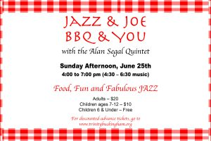 JAZZ & JOE'S BBQ and YOU — A June 24th Sunday Afternoon Party