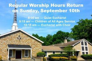 Fall Worship Hours Have Resumed