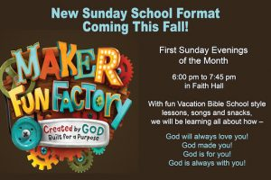On First Sunday Evenings for Sunday Schoolers — Vacation Bible School-Style Sunday School!