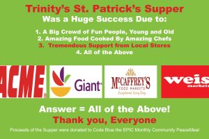 Trinity Thanks Acme, Giant Food, McCaffrey's and Weis Market for Their Outreach Support
